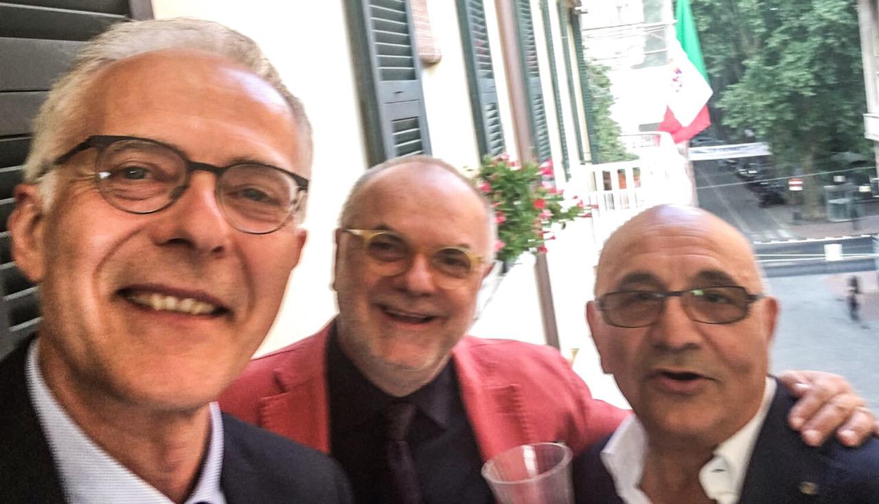 Da sinistra: Sandro Paradisi, Giuliano De Minicis e Tonino Dominici