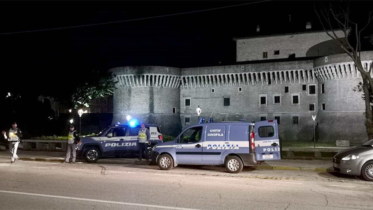 I controlli da parte della polizia a Senigallia