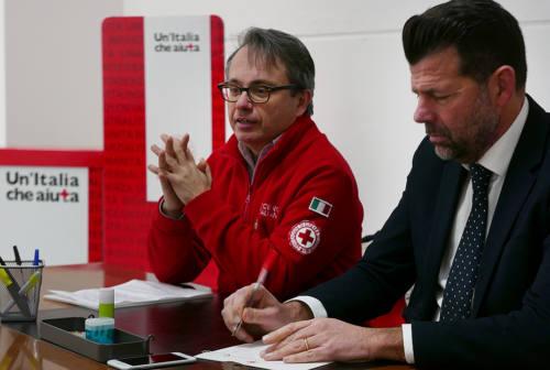 Il sindaco di Senigallia in visita alla sede operativa della Croce Rossa