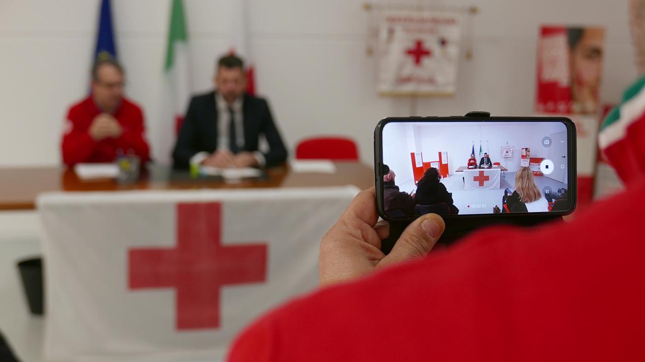 La presentazione della nuova sede della Croce Rossa di Senigallia al sindaco Mangialardi