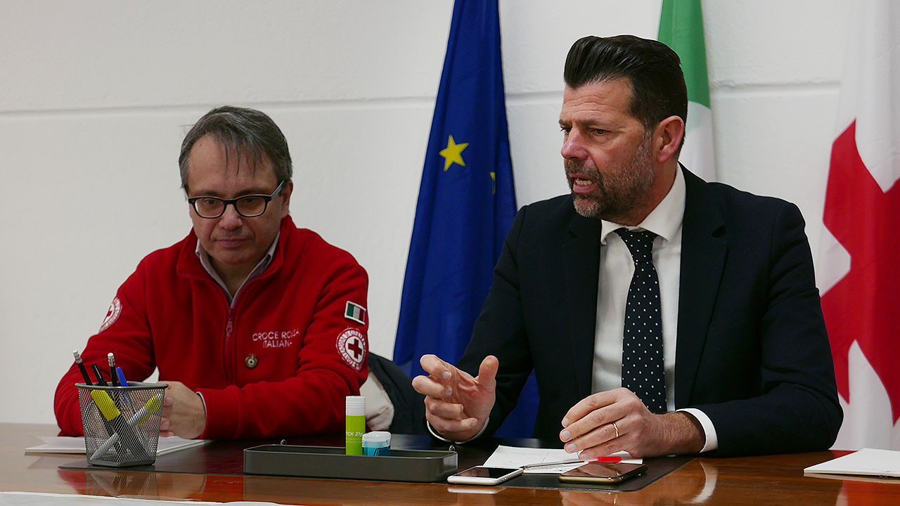 Marco Mazzanti e Maurizio Mangialardi