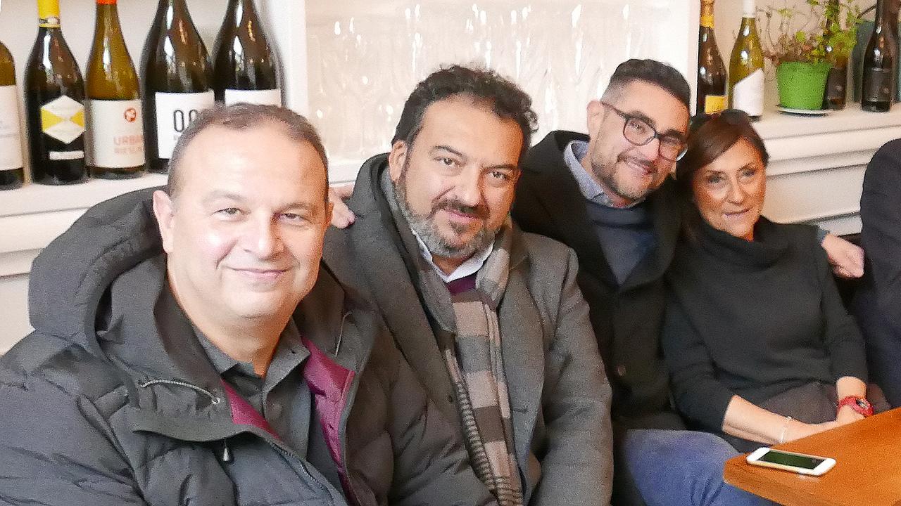 """In foto da sinistra: Luca Lenci, Rino Tricarico, Maurizio Perini e Bruna Durazzi della lista """"Noi #Senigalliattiva"""""""