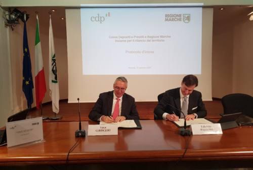 Marche, accordo di collaborazione tra Regione e Cassa Depositi e Prestiti