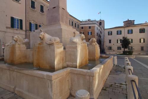 Jesi, spostamento fontana dei Leoni: i dubbi di Italia Nostra