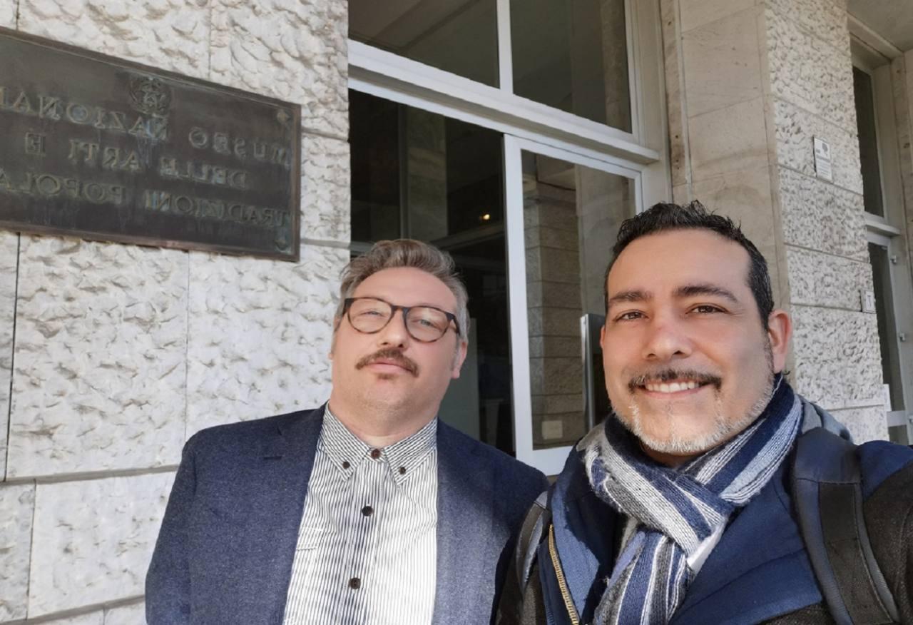 L'assessore alla Cultura Ruben Cittadini (a sinistra) e il sindaco Roberto Ascani a Roma