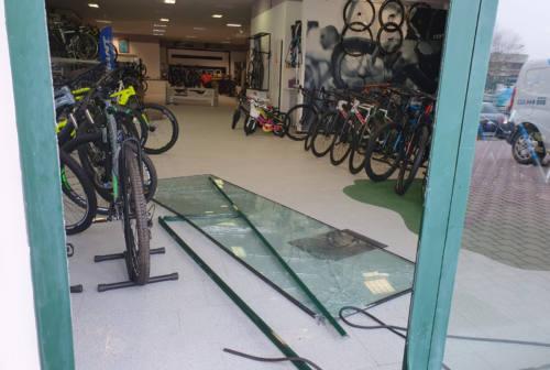 Spaccata notturna alla Copparo Bike Store, banda di incappucciati fa razzia di biciclette