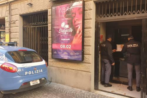 Fabriano: cartellino giallo per l'Aera discoteca, 7 giorni di sospensione dell'attività