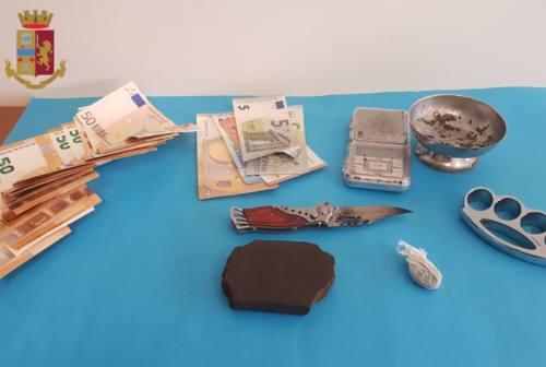 Ancona, arrestato 40enne per spaccio. Tra i vestiti un panetto di hashish