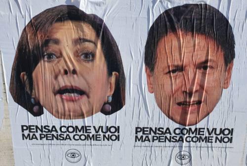 Anche a Fabriano arrivano i manifesti contro Conte e Boldrini