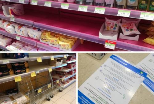 Coronavirus, scaffali vuoti nei supermercati. La denuncia dei sindaci: «Non siamo stati interpellati»