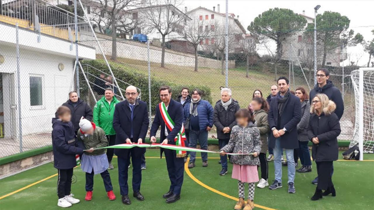 Inaugurato il centro polifunzionale per praticare diverse discipline sportive in località Castel Colonna di Trecastelli