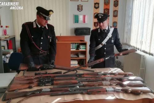 Chiaravalle, ritrovati dieci fucili da caccia rubati