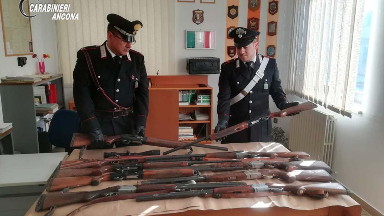 Chiaravalle, i fucili ritrovati