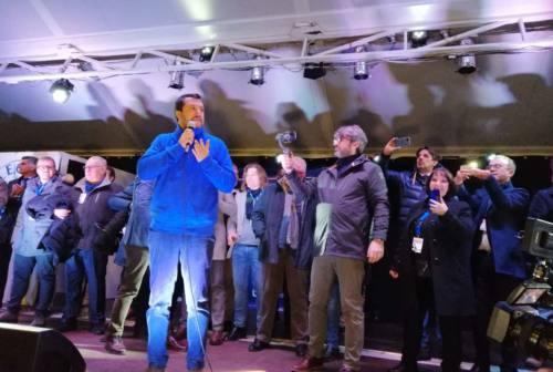 Salvini a Pesaro: «I marchigiani chiedono cambiamento, Ceriscioli prepari gli scatoloni»