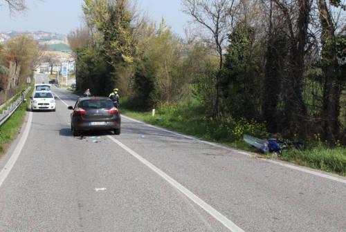 Osimo, incidente in via D'Ancona: un ferito a Torrette