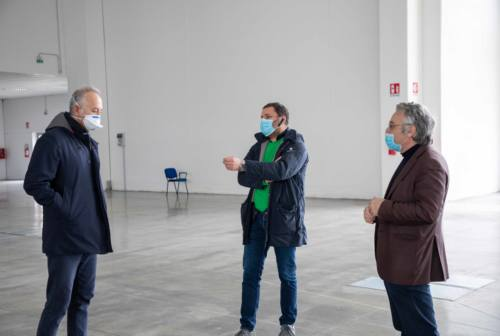 Sopralluogo in Fiera a Civitanova, Ciarapica: «Prossimo passo inizio dell'allestimento»