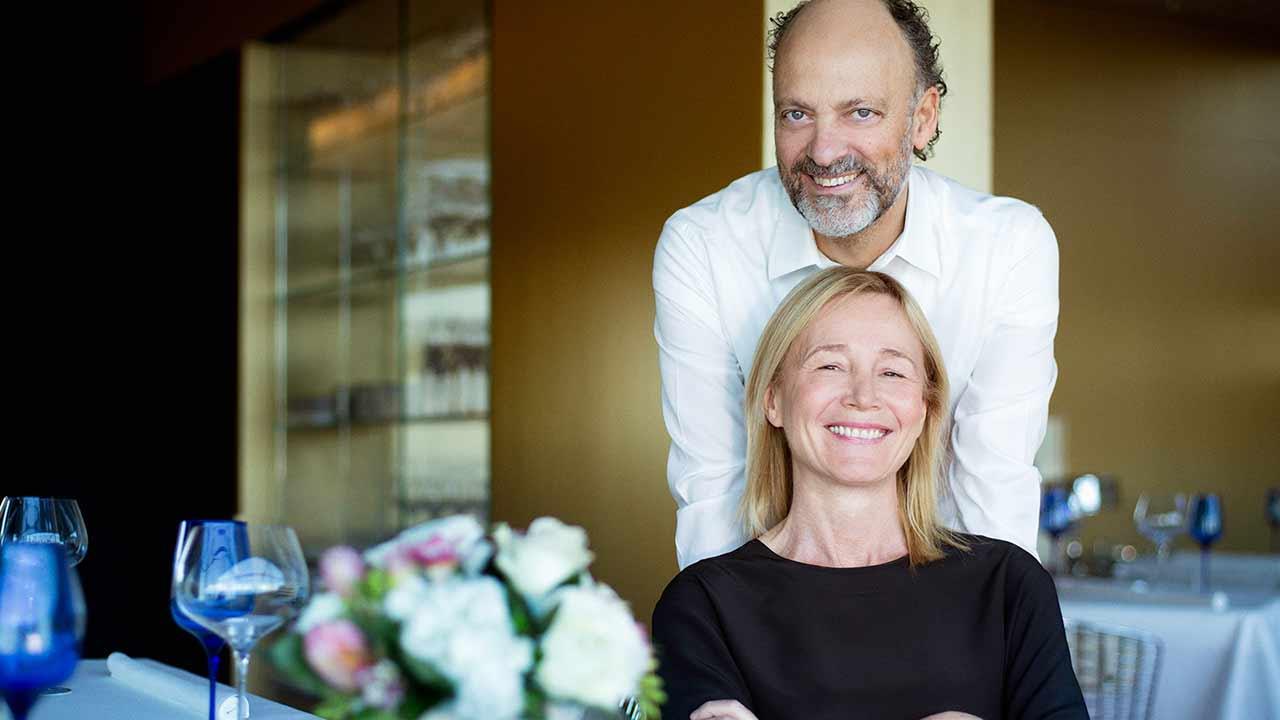 Moreno Cedroni e Mariella Organi. Foto da morenocedroni.it