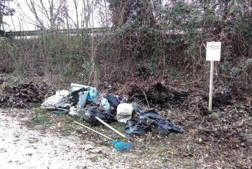 Senigallia, rifiuti abbandonati vicino al campo sportivo: intervengono i volontari a ripulire
