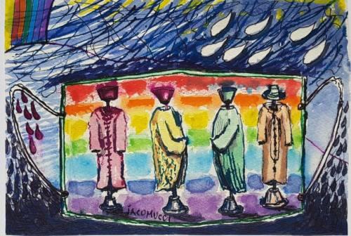 Arte e Coronavirus: la speranza dipinta sulle mascherine, l'opera del maestro Carlo Iacomucci