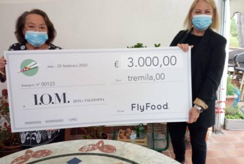 Coronavirus, Flyfood dona 3mila euro allo Iom Jesi e Vallesina