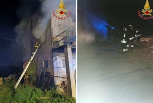 Abitazione avvolta dalle fiamme a Cingoli: danni ingenti