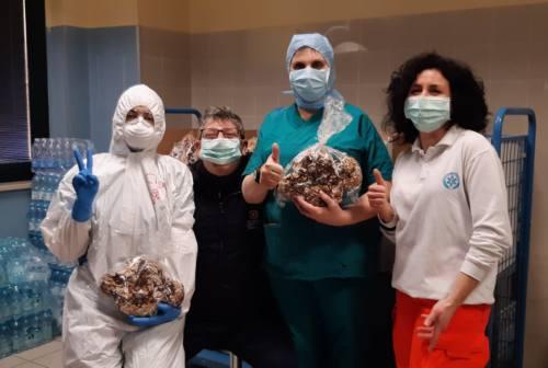 Donate cento colombe agli operatori sanitari dell'ospedale di Civitanova