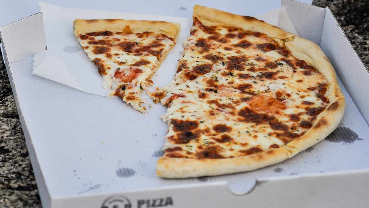 cibo d'asporto, take away, pizza