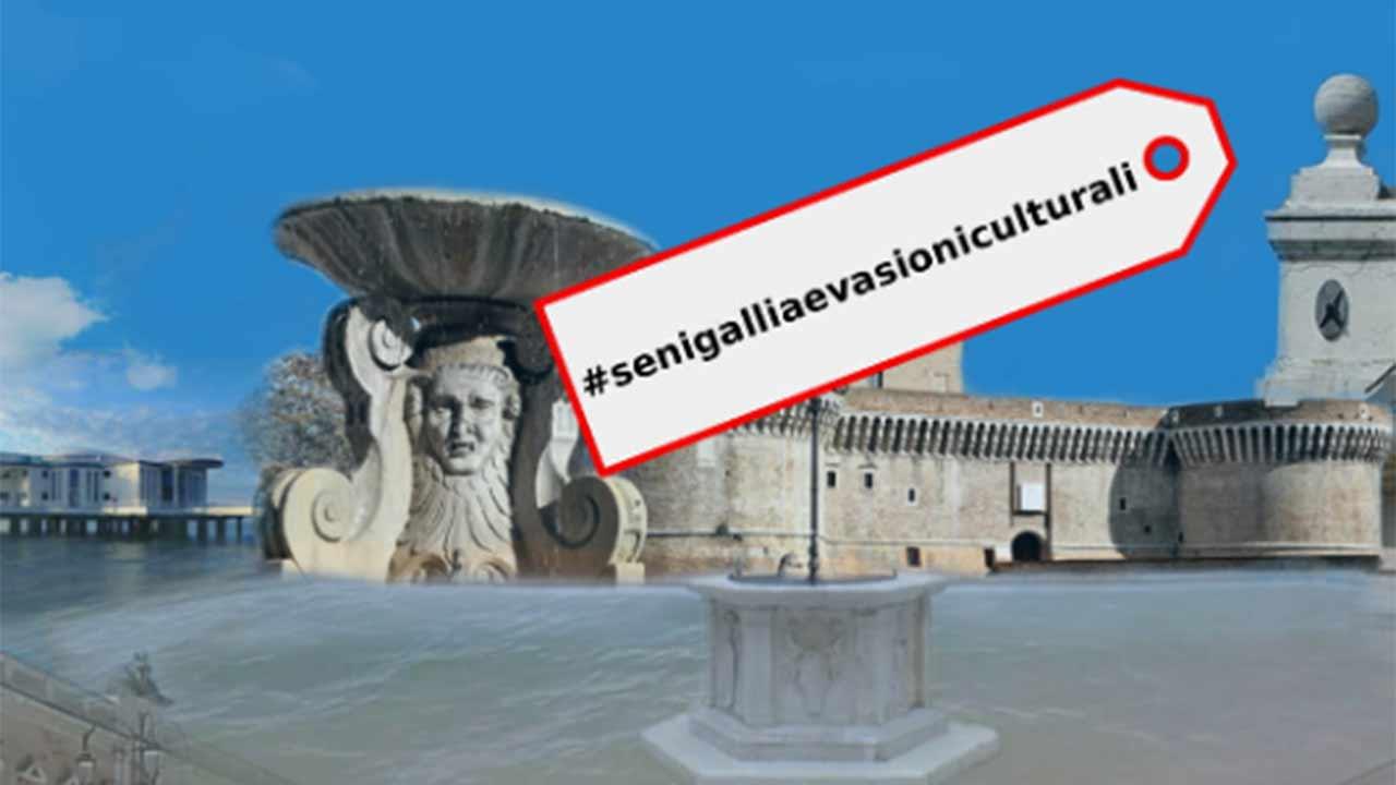"""La locandina del programma di iniziative a Senigallia """"Evasioni culturali"""""""