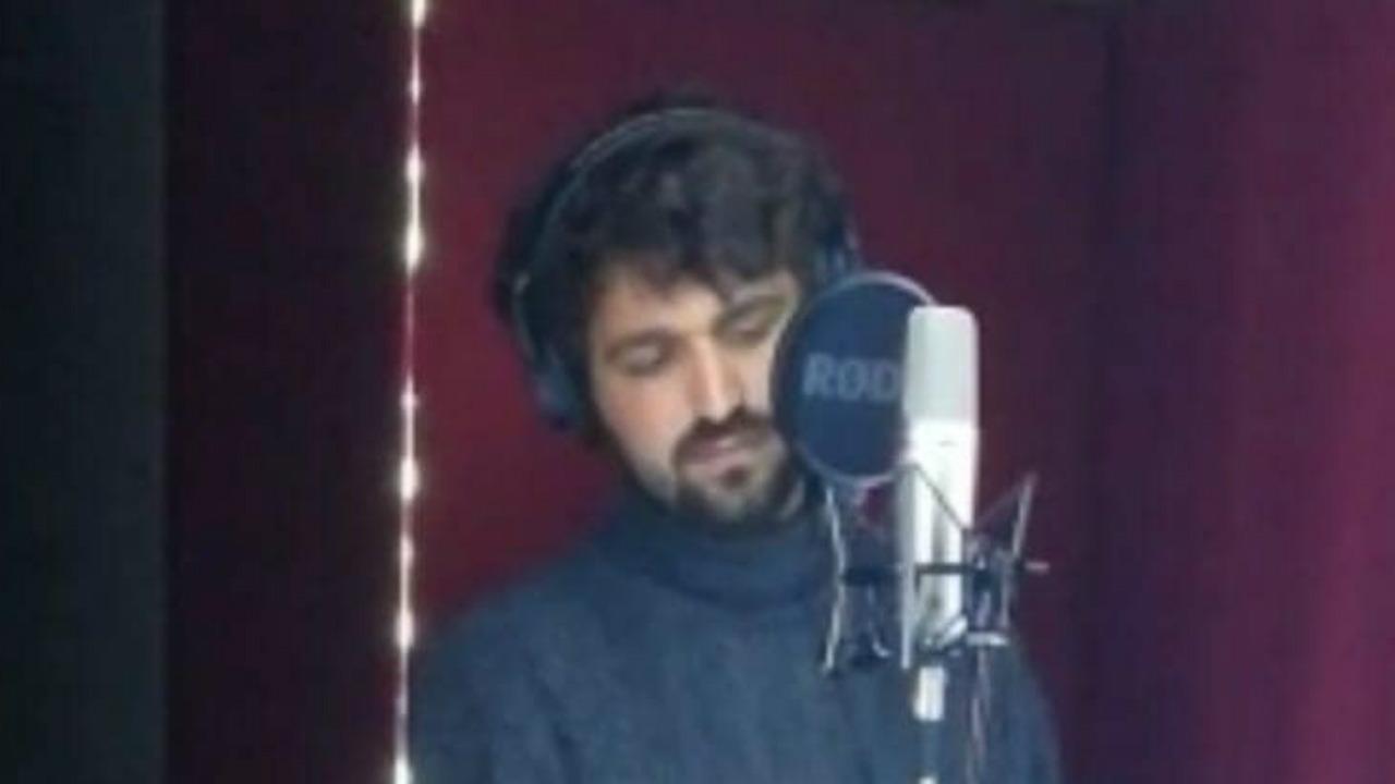 Paolo Fuligni in studio di registrazione