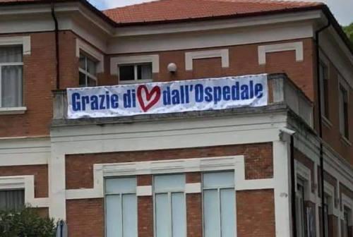 """Il """"grazie di cuore"""" dell'ospedale alla città di Senigallia"""