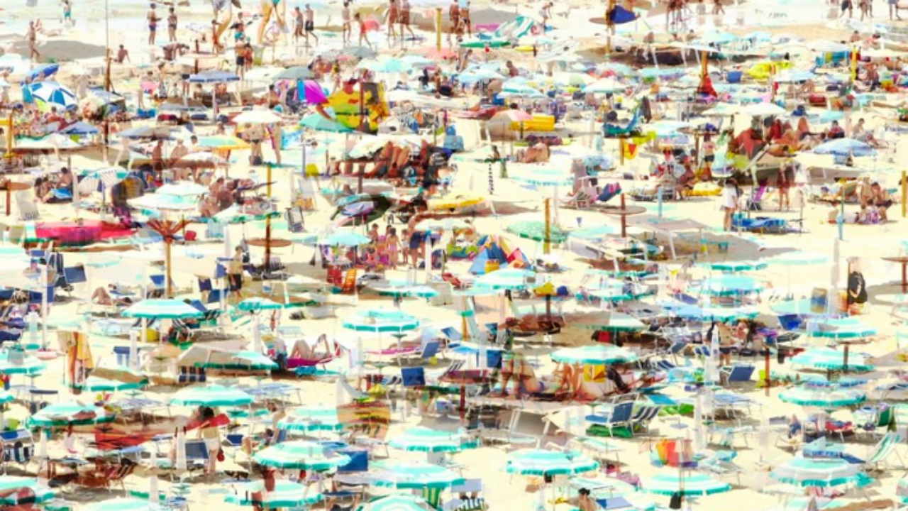 La spiaggia di Senigallia sul Time