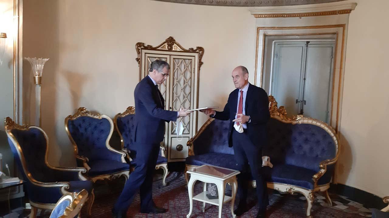 Jesi, sindaco Bacci con il questore Pallini