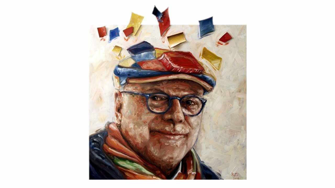 Giuliano De Minicis nel ritratto di Daniel Salvador Patti, per gentile concessione dell'autore