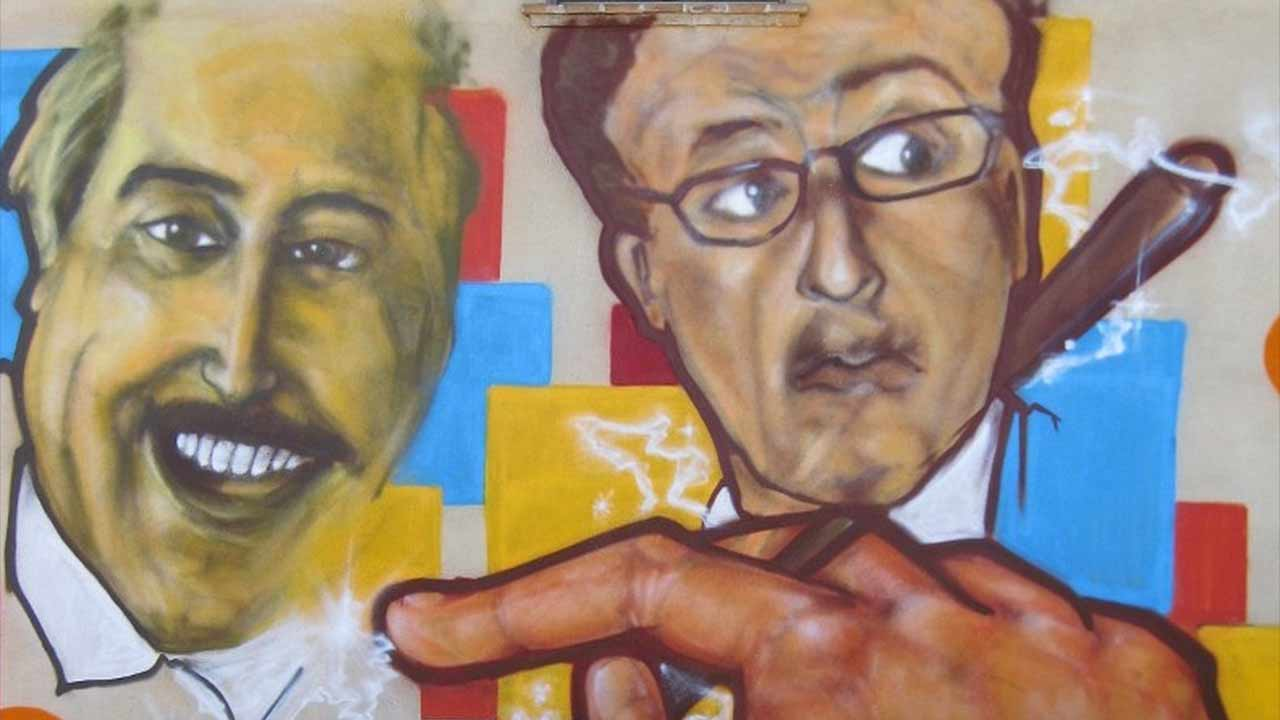 I volti dei magistrati antimafia Falcone e Borsellino dipinti nel 2012 sulle parenti del centro di aggregazione giovanile Bubamara di Senigallia