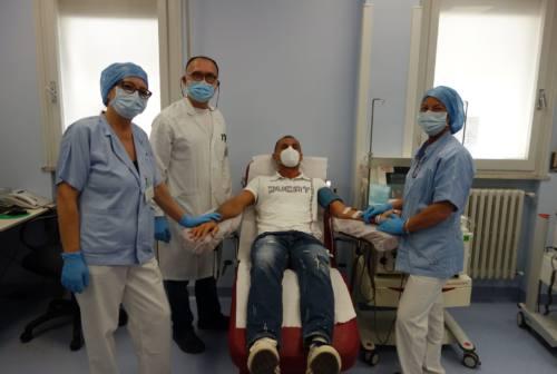 Marche Nord, ecco la prima donazione del plasma iperimmune