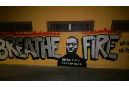 A Fano un murale per ricordare George Floyd