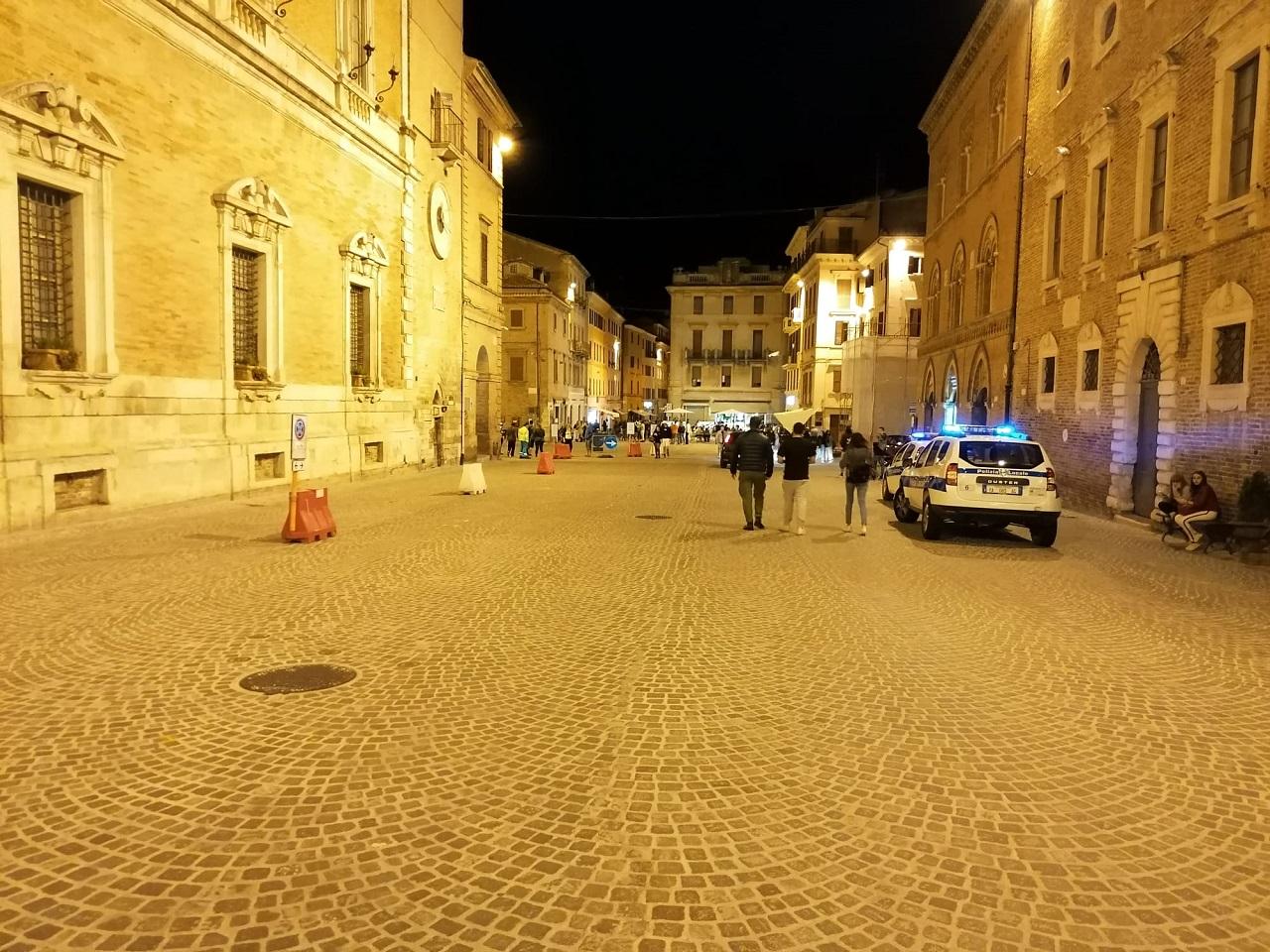 I controlli in centro a Osimo