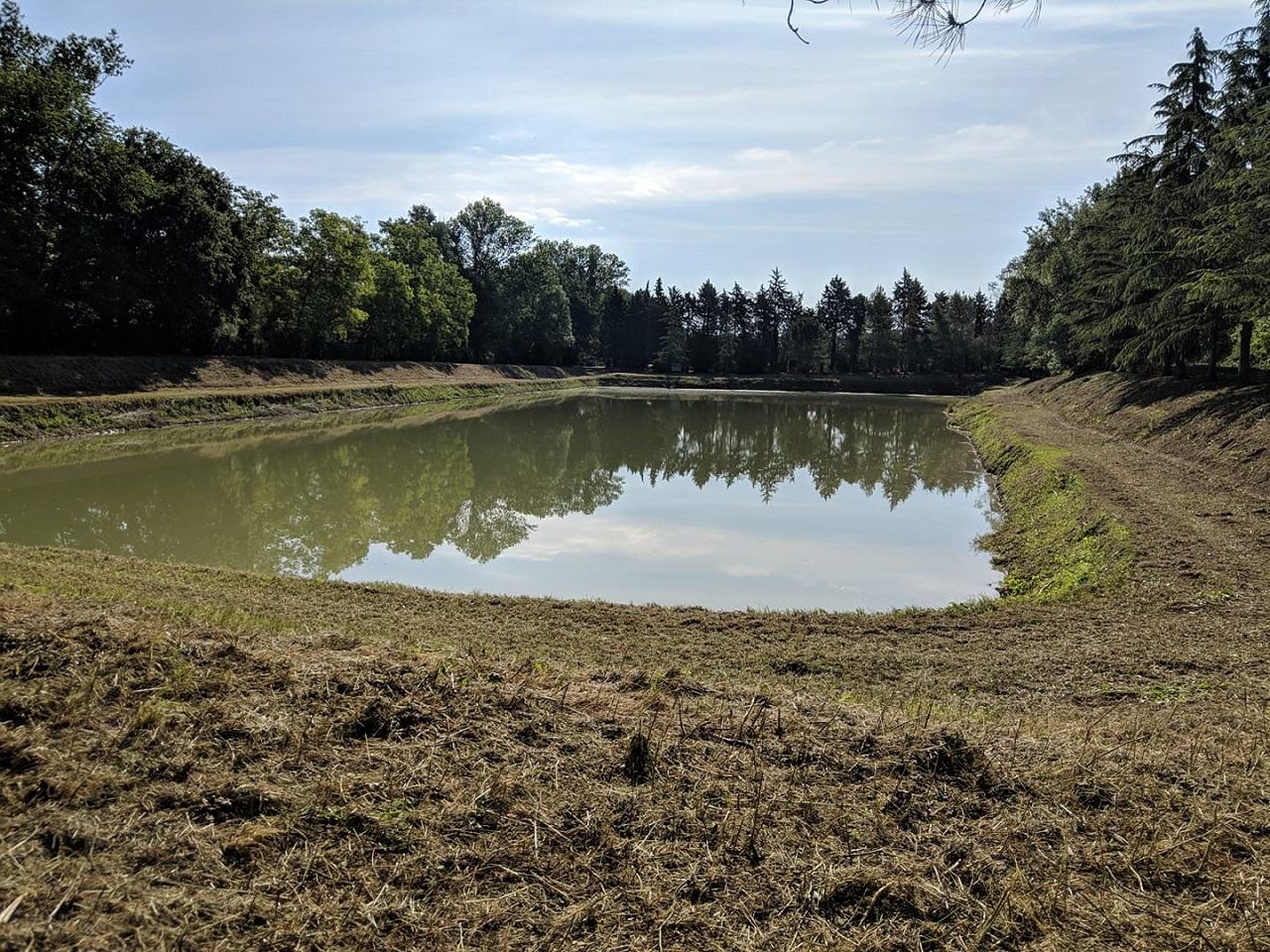 Il lago dopo la prima parte dei lavori