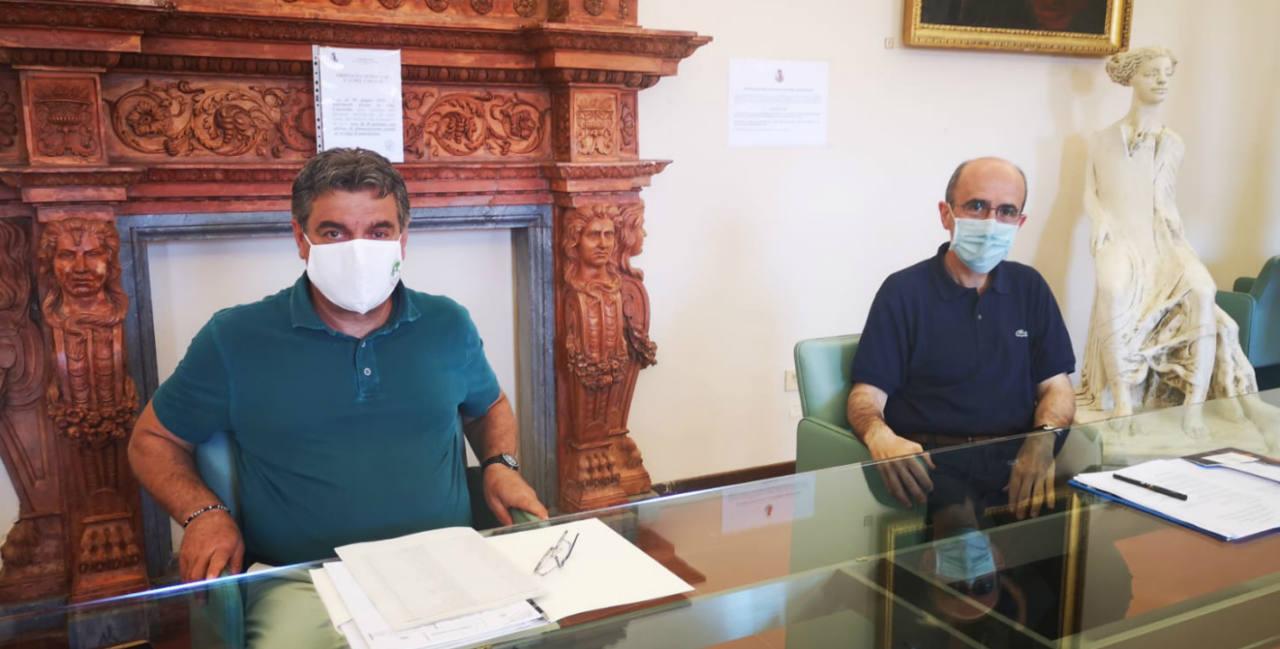 Massimo Seri e don Francesco Pierpaoli