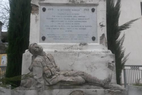 Art Bonus a Fabriano: fondi privati per il monumento ai Caduti di Cacciano