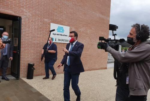 Salvini ad Osimo, Lega pronta alle regionali. L'accusa: «La giunta Ceriscioli non ha funzionato»