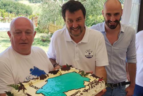 Elezioni regionali: visita di Matteo Salvini a Fano. «Vinciamo perché grazie alla Lega il centrodestra è unito»