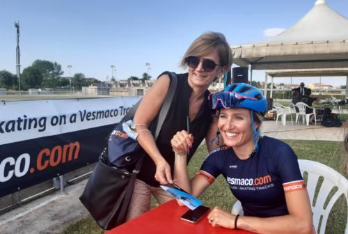 Un pomeriggio al pattinodromo di Jesi per la campionessa Francesca Lollobrigida