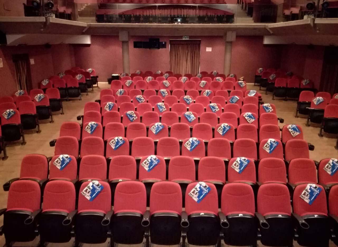 Il cinema Gabbiano con i posti contingentati