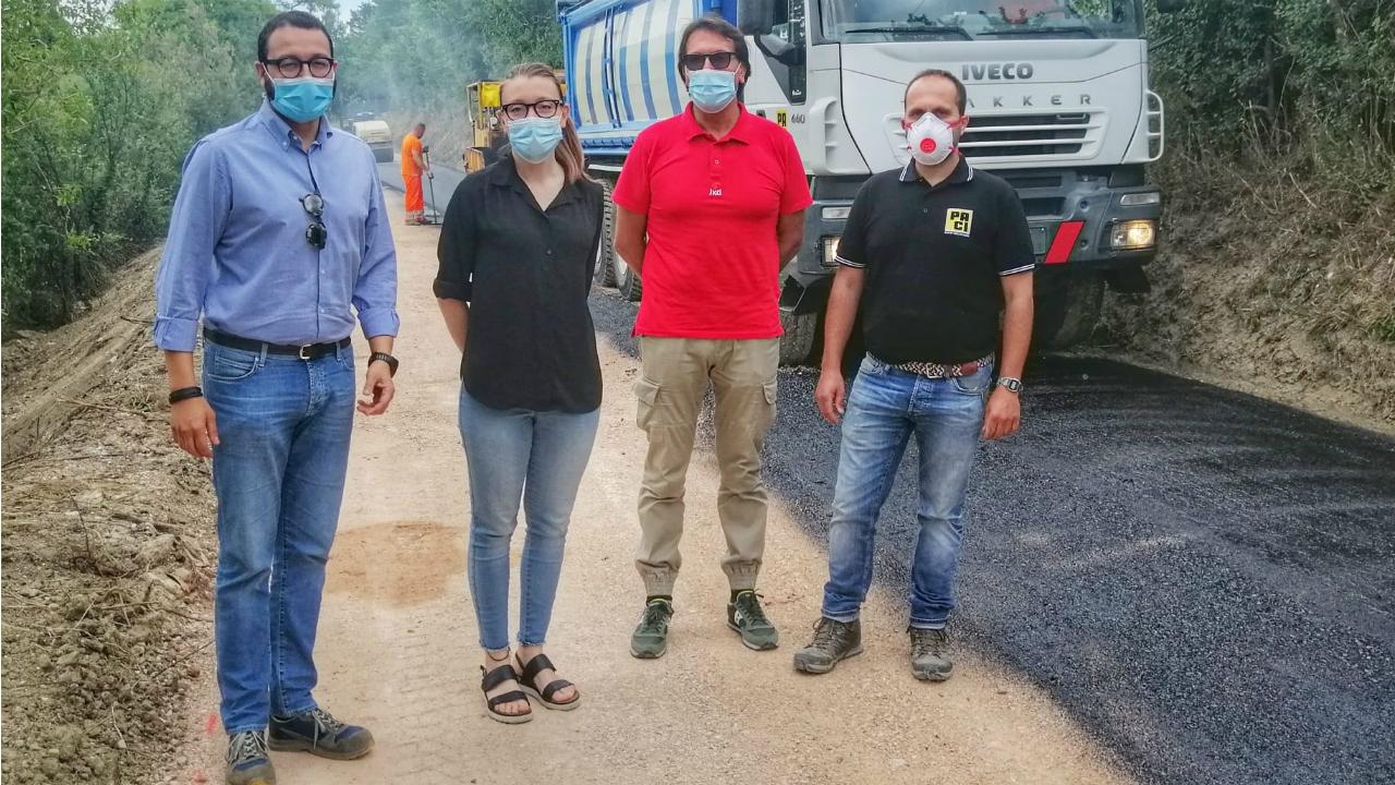 manutenzione delle strade di Fano: riaperta la strada Caminate