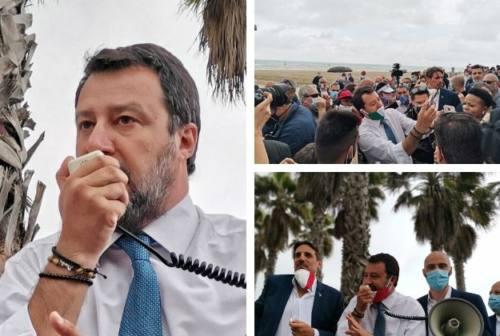 Salvini a Lido Tre Archi: «Presidio fisso per la sicurezza. Le regionali? In settimana il nome»