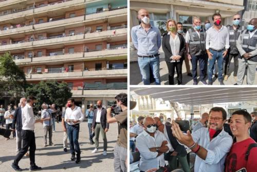 Salvini all'Hotel House: «La Regione acquisti gli appartamenti all'asta per destinarli all'edilizia popolare»