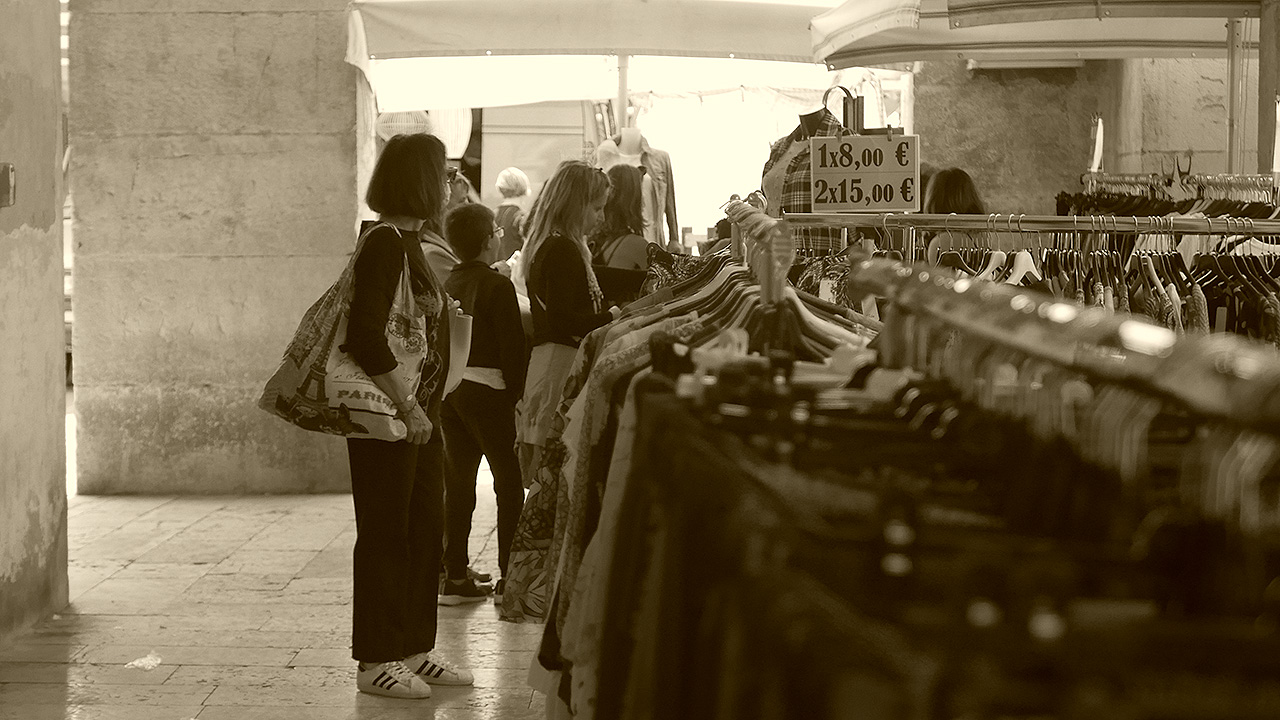 Il mercato a Senigallia dopo il lockdown