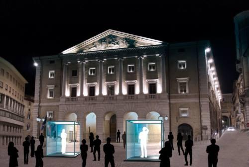 Il teatro delle Muse riparte con attori rinchiusi in teche trasparenti