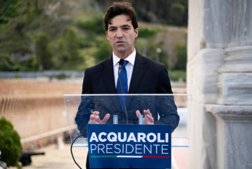 Elezioni regionali Marche, Acquaroli in visita a Genga: turismo dell'entroterra da rilanciare secondo Fratelli d'Italia